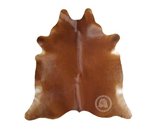 Sunshine Cowhides Teppich aus Kuhfell, Farbe: Braun, Größe Circa 210 x 180 cm MA1, Premium - Qualität von Pieles del Sol aus Spanien.