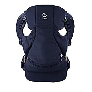 Stokke MyCarrier Front Carrier - Adult Baby Carrier for Newborns - 3 in 1 Organic Cotton Carry System - Ultralight & Ergonomic - Colour: Deep Blue   9