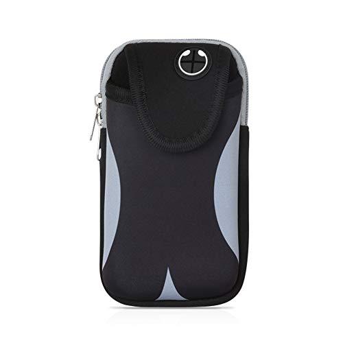 Fitness-Armband für Samsung Galaxy S10+, S9 Plus, S8 Active S8+, Note9, S6 Edge +, Laufhülle für Google Pixel 3 XL, 2 XL, Huawei Mate 20 Pro, HTC U12+, L, Schwarz/Grau (Phones Cell Samsung T-mobile)