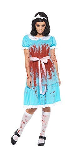 lig Horror Murderous Blutig Zwillings Schwester Tv Buch Film Halloween Kostüm Kleid Outfit UK 8-22 - UK 12-14 ()