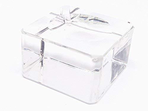 Eclectic Shop UK Kristallkugel Ständer Glas Ständer Display Medium Klar Ball Sphäre Massives Glas Ständer (nur Ständer)