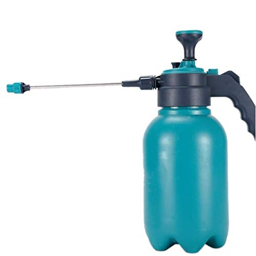 LYATW Wasserspritzen, 2L Handpumpe Drucksprüher, beweglicher Hand Garten Herr Sprühflasche zum Sprühen Weeds/Gießen/Reinigungs/Auto Waschen, Blau