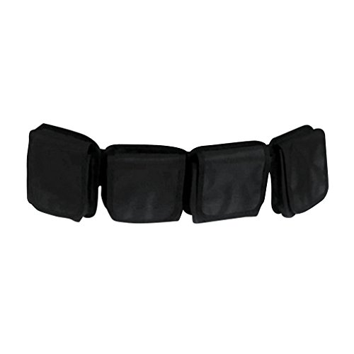 MagiDeal Tauchausrüstung Set mit 1x Tauchgürtel, 2x Edelstahl Gürtelschnalle, 1x Kunststoff Schnalle, Bleitasche (Mengen von Taschen Auswählbar) - 4 Taschen