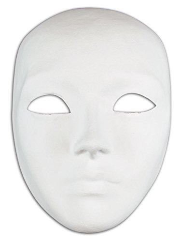 Venezianische Full Face Blankopapier Mache Maske Volto Do -