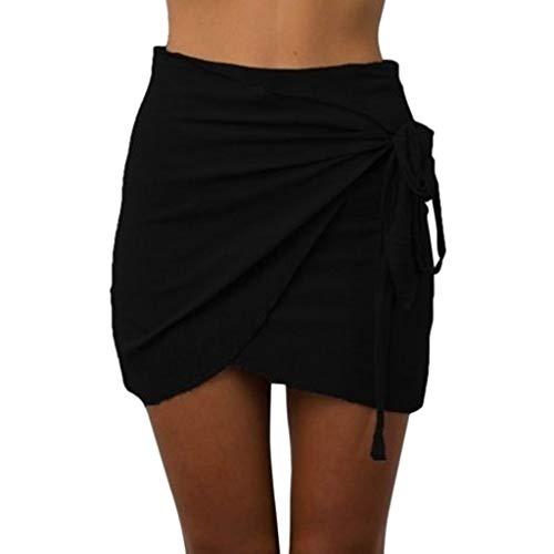 urzer Absatz Sommerrock Einfarbig Falten Frenulum Plissee Minirock Röcke,Frauen Freizeit Röcke Strandrock Faltenrock Skirt ()