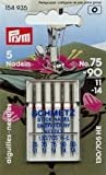 Prym/Schmetz 154935 Agujas para máquina de coser bordado 130/705 H-E; Surtido de, 5 piezas