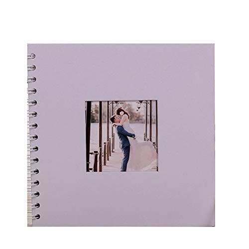 whall-fall Scrapbook Hochzeits-Nachricht Buch weiß ohne Bedruckte Schleife DIY Album Familie Paare Album, einfarbig, 25 x 25 cm -