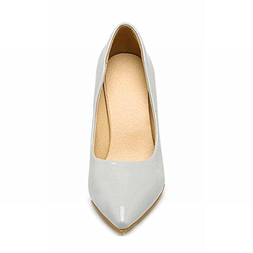 Mee Shoes Damen Stiletto spitz Geschlossen Pumps Grau