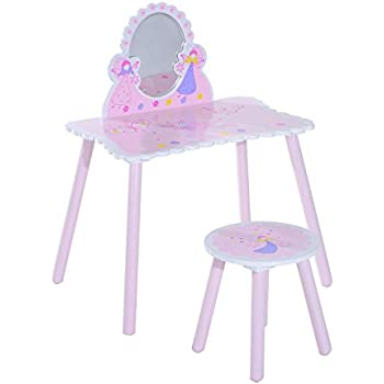 Jumini Childrens Kids Wooden Dressing Table Vanity