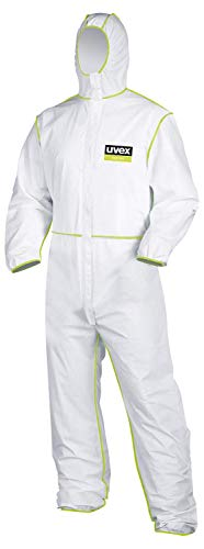 Uvex 5/6 Comfort Chemikalien-Schutzanzug - Einweg-Overall der Kategorie III - M