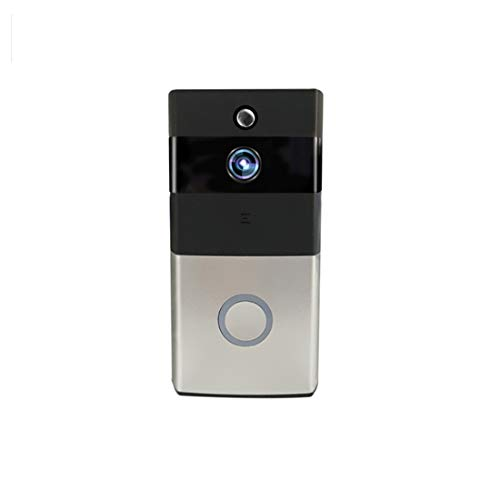 YWUAEN Smart Doorbell, WiFi Wireless Video Doorbell, Battery Powered, Night Vision, Real-Time Two-Way Talk and Video, Video, PIR Motion Detection Batterie-powered-video