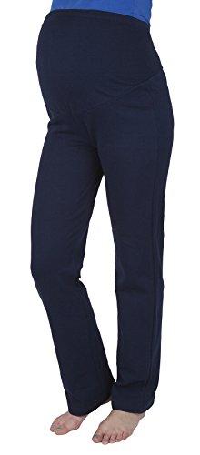 Schwangerschaftshose / Yogahose mit extra Bauch-Panel / Umstandsmode (S, Navy) (Pant Schrittlänge Hose)