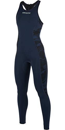 Mystic Watersports - Surf Kite Surf y Windsurf Mujeres Diva 2 mm Volver Zip Long John Traje de Neopreno Azul Marino - M-Flex 2.0 Neopreno