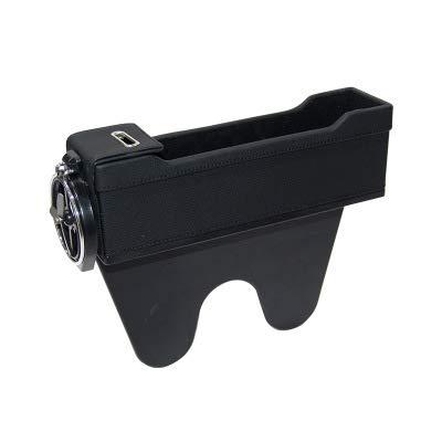 Car storage box Boîte de Rangement pour Fente pour siège de Voiture, boîte de Rangement pour Voiture avec 2 Ports de Chargement USB, boîte de Rangement pour Compartiment Multifonction