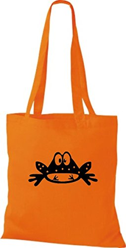 Shirtstown Stoffbeutel Tiere Frosch Kröte Orange