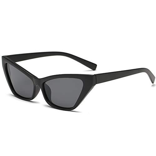 WZYMNTYJ Cat Eye Frauen Sonnenbrille einzigartige Vintage Sonnenbrille Marke Schwarze Brille Mode trendy Shades Retro Kunststoff Eyewear