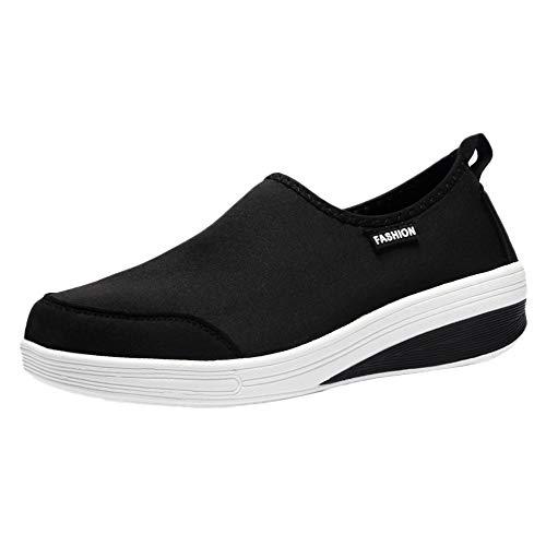 Zapatillas de Mujer BaZhaHei Mujer Zapatos deportivos de malla transpirable con parte inferior plana para mujer Zapatillas de deporte ligeras para mujer Calzados informales de malla transpirable mujer