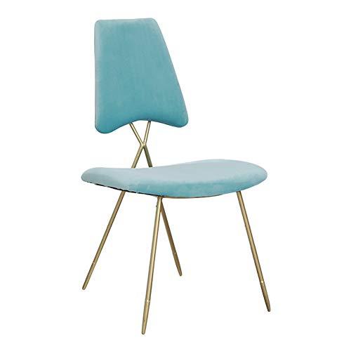 Poltroncina/sedia da pranzo/tris sedia/panca imbottita, arte in ferro/tessuto in velluto/imbottito, per spogliatoio/soggiorno / camera da letto/caffè, 3 colori