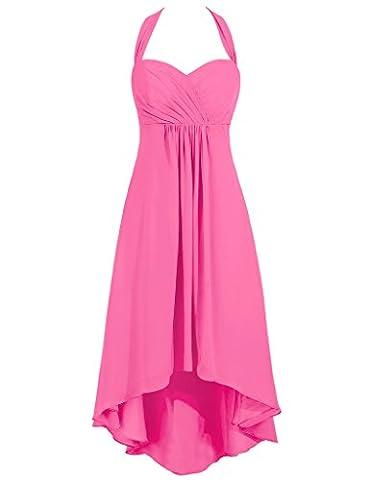 HUINI High Low Chiffon Halter Schatz Hochzeit Brautjungfernkleider Abschlussball Partei Kleider Size 48