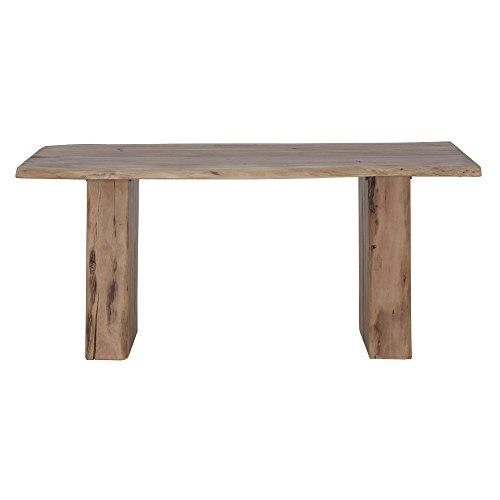 HOMY Esstisch Holz / Massivholztisch braun Tischplatte Akazienholz 3,5cm stark 180x76x90cm - Norfog