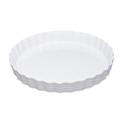 Küchenprofi Tortenform 30cm Burgund, Porzellan, Weiss, 5.4 x 31.6 x 31.6 cm