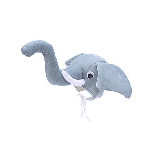 Amosfun Elefante en Forma de Sombreros Animal Cosplay Disfraz de Disfraz de Halloween para Padres e Hijos
