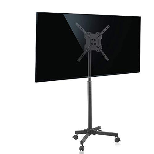 Entertainment-konsole Plasma Lcd (XUE Mobiler TV-Standfuß mit Halterung für Rolling TV Cart für 17-50 Zoll LCD LED TV Flachbildschirm mit Rädern höhenverstellbar TV Trolley Schlafzimmer Wohnzimmer Konferenzraum Büro)