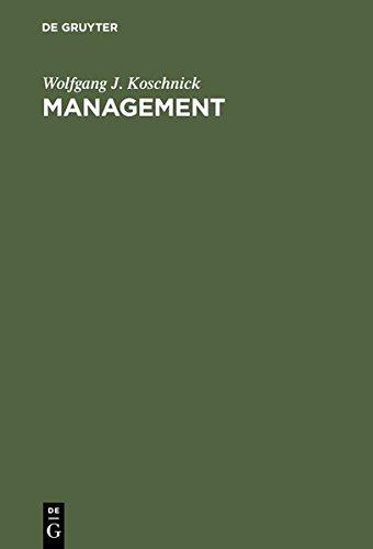 Management. Enzyklopädisches Lexikon
