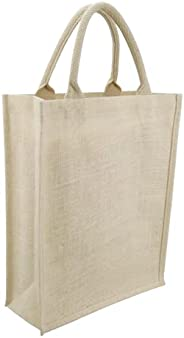 Eco-neutral - Jute Tote Shopping Bag   Eco-friendly Reusable Grocery Bags   Waterproof coating with soft handl