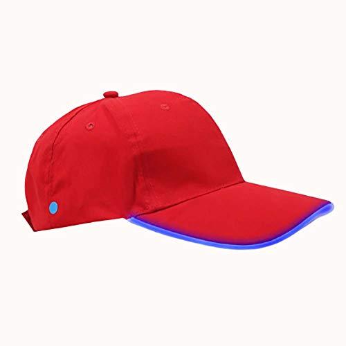QSCA Leuchtende Baseballmütze Led Luminous Duck Tongue Sports Partyhut Mit Led-leuchten, Mit Batterie- Red Riding Hood Blue Light (Die Red Hood Original Riding)