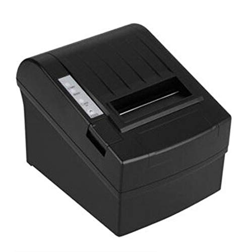 Black Thermal Power Supply (POS-8220 Compact Size Wireless WiFi POS Thermal Receipt Printer 80mm Cutter EU Black)