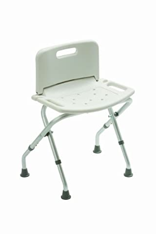 Drive DeVilbiss Healthcare Folding Bath / Shower Bench with Back