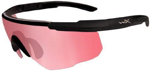 Wiley X Schutzbrille Saber Advanced Im Set mit 3 Gläsern, Matt Schwarz, M/XL, 309
