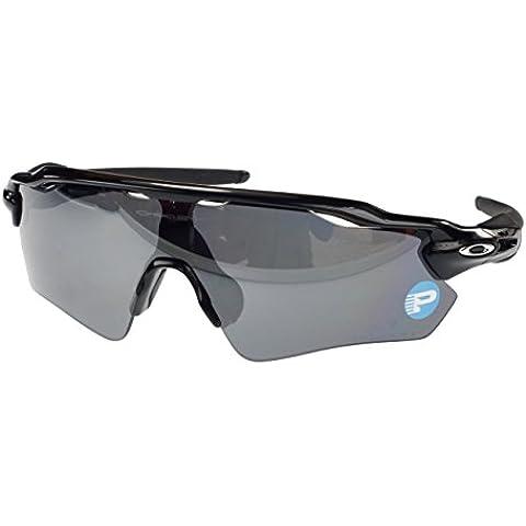 Oakley Radar EV PATH polarizadas gafas de sol OO9208–07, pulido, negro, negro iridio polarizadas lente grande, Fit