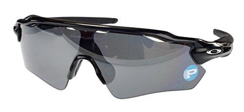 Oakley Radar EV Path Polarisierte Sonnenbrille, oo9208-07, poliert schwarz, schwarz Iridium Polarisiert Objektiv, Large Fit