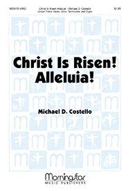 Christ Is Risen! Alleluia! - Unison Voices, Organ, Oboe, Tambourine Clarinet in B-flat - Stimme - Unison-flat