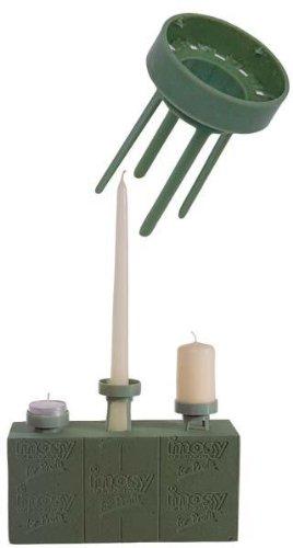 DN-Dekor 080-0040-196 - Kerzen-Halter - Floristenbedarf, 4 Stck