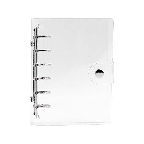 Zhi Jin Standard-Ringbuchhülle, 6Loch, weiches PVC, Transparent  A7-15*11cm