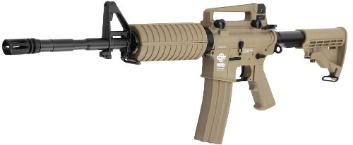 Softair CM16A1 Carbine Komplettset AEG Airsoft 6mm BB Desert Tan (Freie Airsoft-magazin)