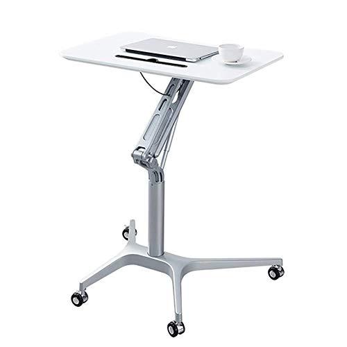 BDMF Stehendes Falten Laptop-Einkaufswagen, Sitzen Stehen Mobiler Schreibtisch Rednerpult mit höhenverstellbarer 29,5