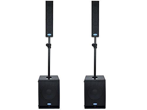 Paar System Audio komplett Anlage 3 Wege