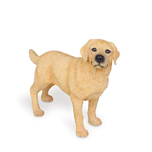 Statuen Dekoartikel Skulpturen Figuren Labrador Retriever-Simulations-Hundemodell-Auto-Harz Fertigt Dekorations-Gelb-Stehende Position