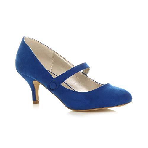 Ajvani Damen Hoher Absatz Mary Jane Formal Abend Party Ball Pumps Schuhe Größe 3 36