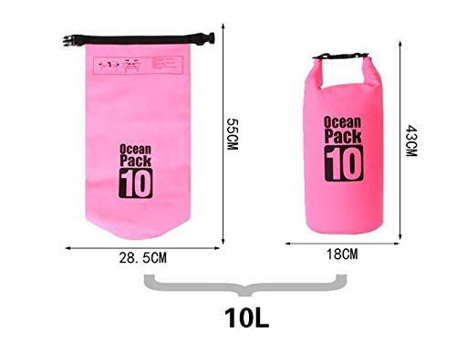 Supreme Mall (Label) Waterproof Fabric PVC 10 Litter Dry Bag for Out of doors, Sports activities, Swimming and Camping (Multi) Image 4
