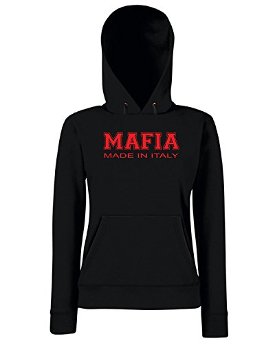 T-Shirtshock - Sweats a capuche Femme OLDENG00573 mafia made in italy Noir