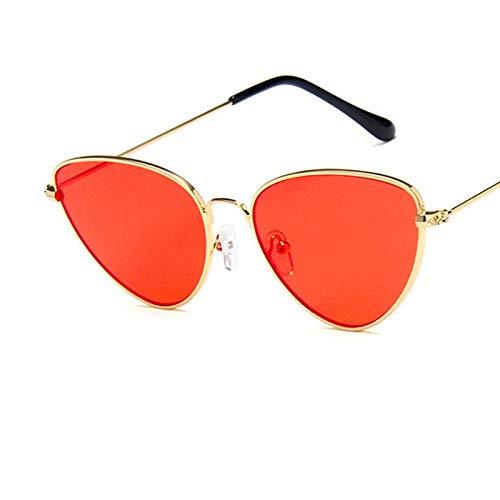 GUOTAIEUP Sonnenbrillen Retro Vintage Sonnenbrille Frauen Kleines Gesicht Rosa Damen Sonnenbrille Mode Männer Gelb Getönte Brillen Brillen3-Gold Orange