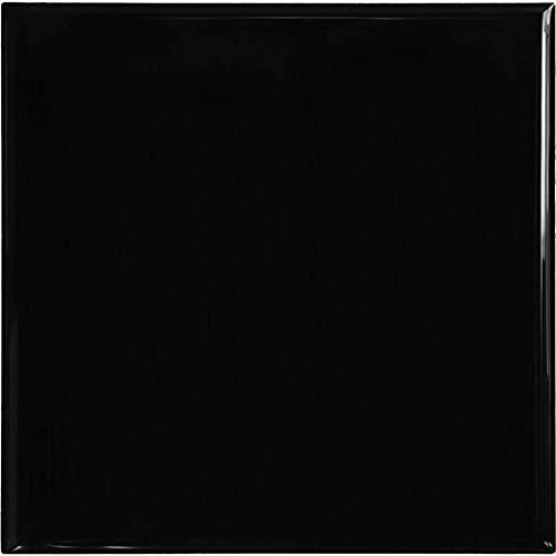 RENOSTICK Carreaux de faïence adhésif Noir - 15 X 15 CM