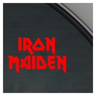Iron Maiden Red Sticker Decal Metal Rock Band Red Car Window Wall Macbook Notebook Laptop Sticker Decal