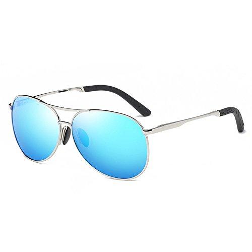 Pulchram occhiali da sole aviatore polarizzati protezione uv400 lenti hd tac cornice metallica sunglass per uomo donna