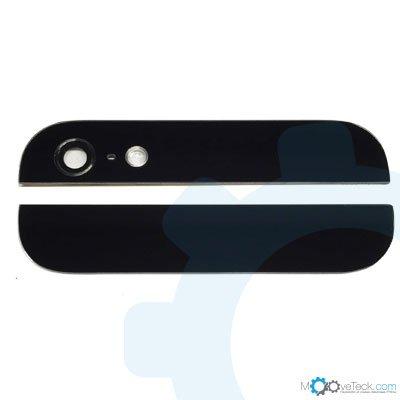 Vitres arrières haut et bas noires pour iPhone 5S
